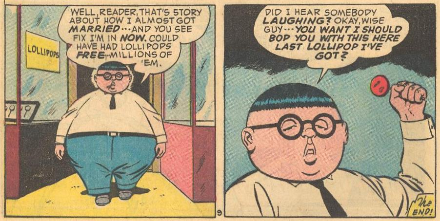 At the end of #16b , Herbie talks to, and threatens the reader .
