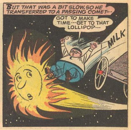Herbie uses a comet for transportation .