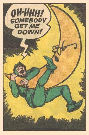 Robin Hood is launched onto a sleeping moon.
