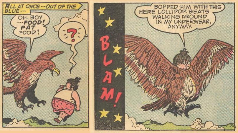 An unkind remark and a need, and it's not the only time a bird loses its feathers to Herbie.