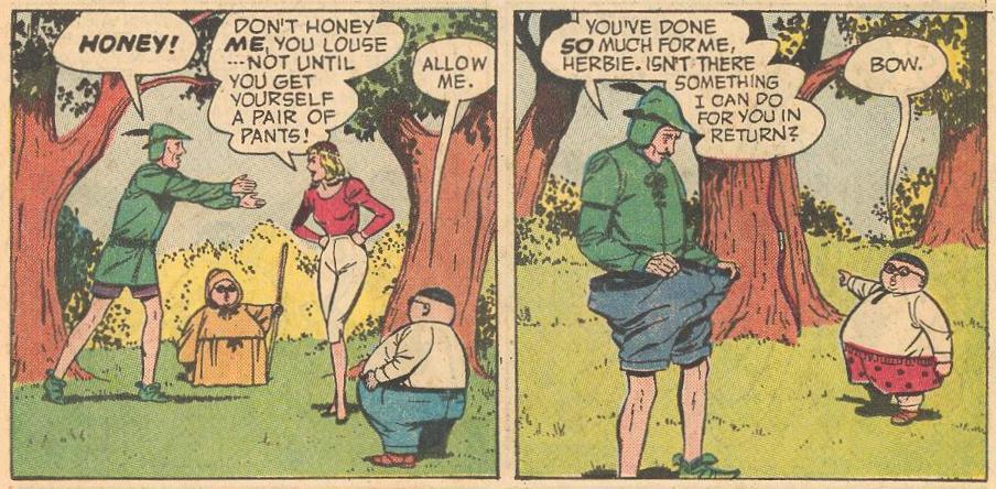 In #9b , Robin Hood needs Herbie's help.