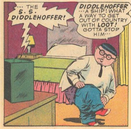 In #10a , Herbie is starting to change into his Fat Fury uniform.