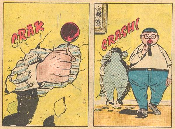 In Forbidden Worlds #110 , walls can not stop Herbie.