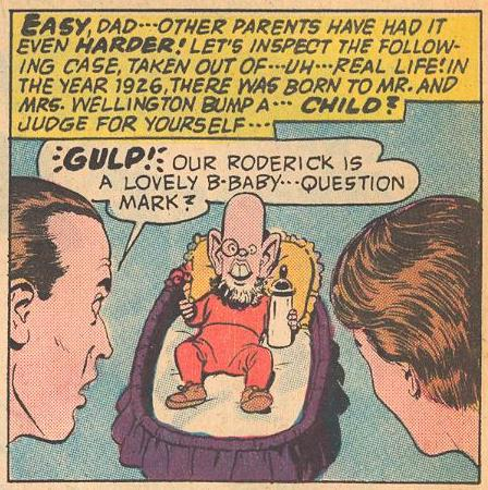 Roderick Bump, misguided scientist, as a baby.