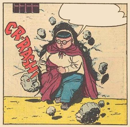 Herbie is breaking through a wall.