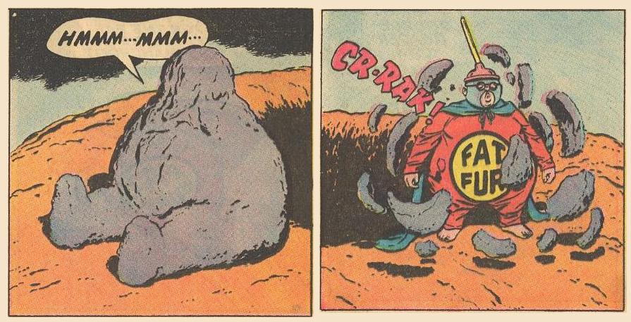...after which Fat Fury is coated with lava.