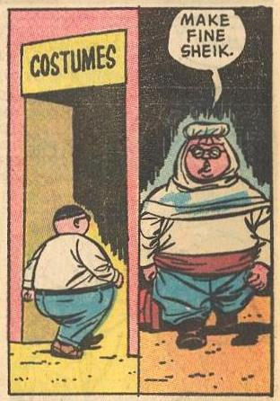 Herbie makes a fine sheik (in disguise ).