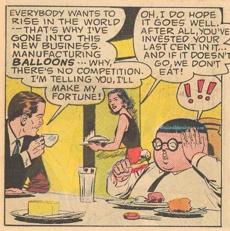 Prime Example : In #6b , Dad comes up with one of his worst ideas (is Herbie's reaction to Dad's idea, or to Mom's comment about not having money to buy food?), and...