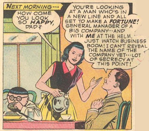 In #10a , Dad gets mixed up in a mess selling hypnotic bowling balls, and Herbie (as the Fat Fury) bails him out.