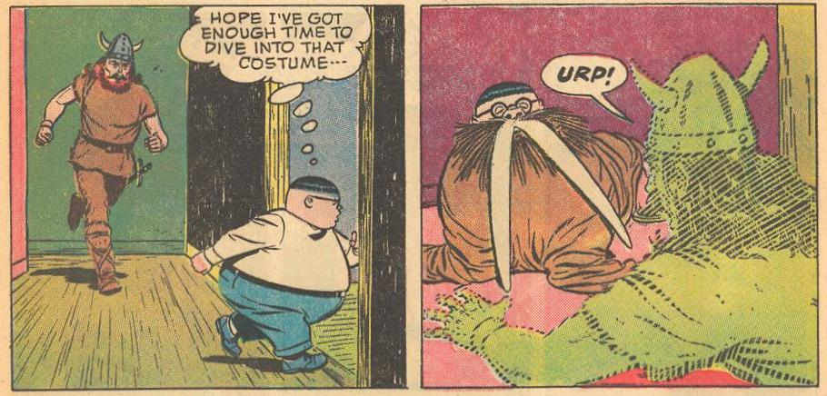 In #7b , Herbie refers to his need to get into costume.