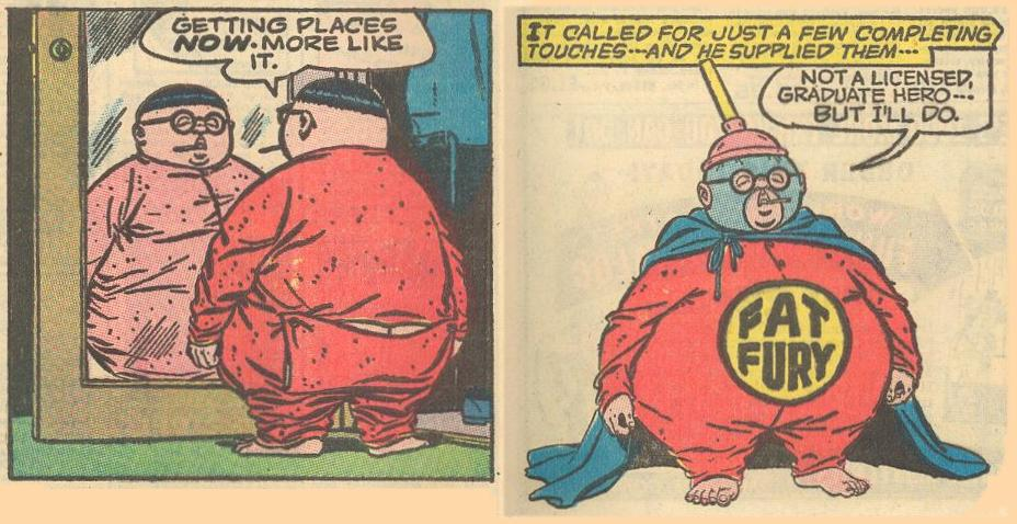 ...but on the bottom of page 9, we see the final costume.