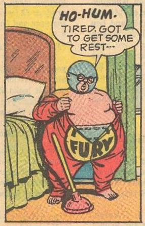 Herbie removes his Fat Fury disguise for the last time.
