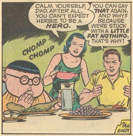 In #8a , after making his debut as the Fat Fury, he appears unusually gluttonous , although he appears to be eating something other than dessert for a change.