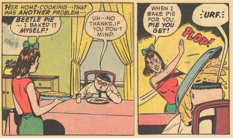 Herbie passes on beetle pie, with consequences.