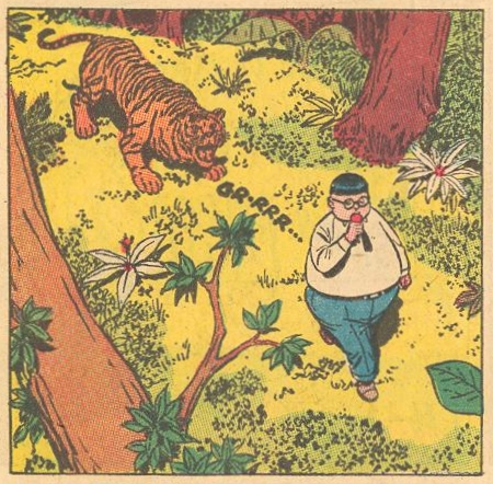 In Forbidden Worlds #114 , Herbie is stalked by a tiger in Africa, but there are no tigers in Africa.
