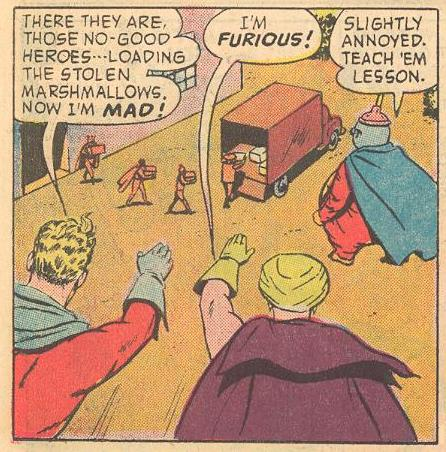 Herbie as Fat Fury with other super heroes.
