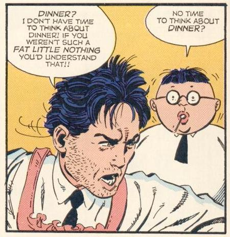"Counter-Example : In ""The Most Beautiful Mom in the World!"" (1992), Herbie appeared startled and worried, and he did not even look too much like Herbie throughout the comic."