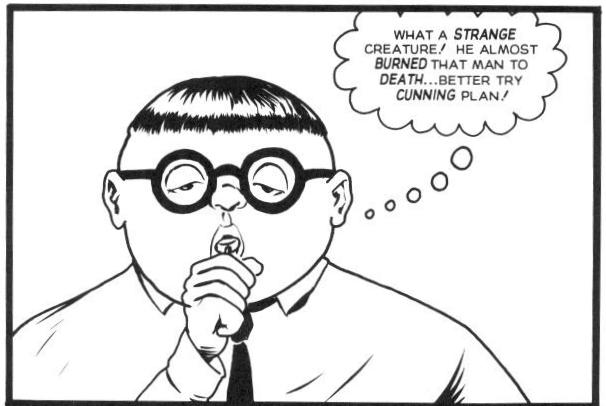 In Flaming Carrot #31 , Herbie is appropriately deadpan, even facing a psychopath.