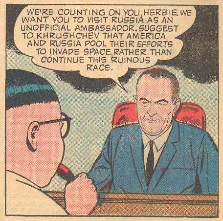 President Lyndon Johnson...