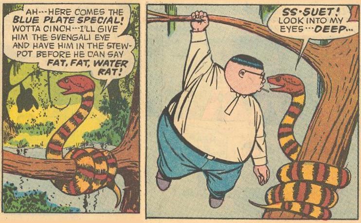 """Fat, fat water rat!"""
