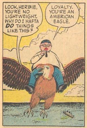On a mission to Washington, Herbie flies an eagle.