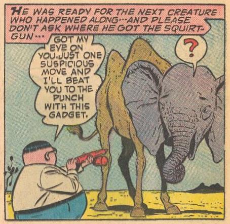 In #6b , Herbie has a squirt gun when he needs it.