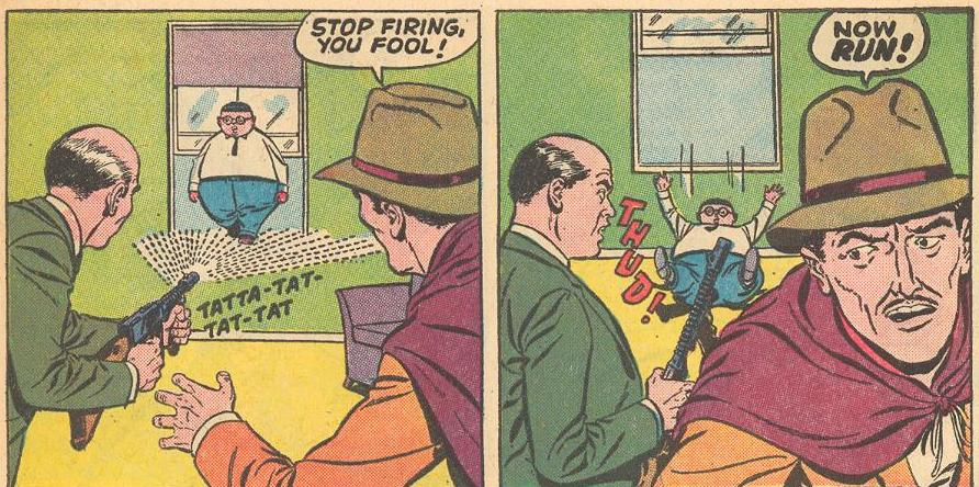 In #2a , crooks shoot at Herbie, but he just uses the bullet stream to walk on, at least until the shooting stops.