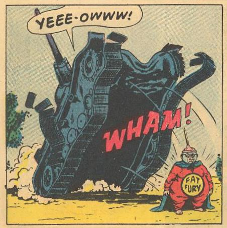 In #16a , a tank is destroyed running into Herbie.