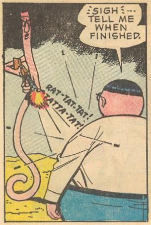 In #22b , Herbie tires of gunfire.