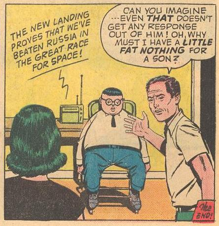 "Many references to ""little fat nothing"" came at the end of stories, this at the end of the first story in Herbie #1a ."