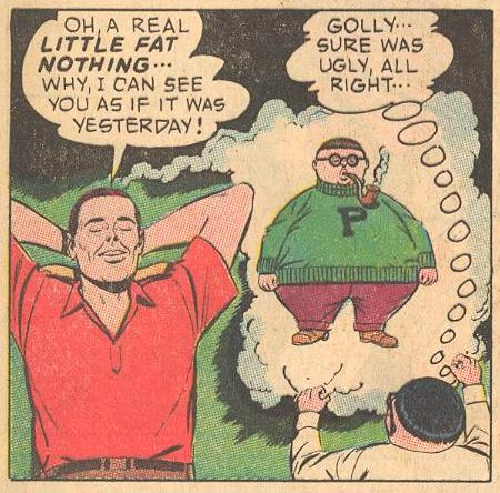 In #15a , we learn that Herbie's dad was once a little fat nothing Herbie look-alike ...
