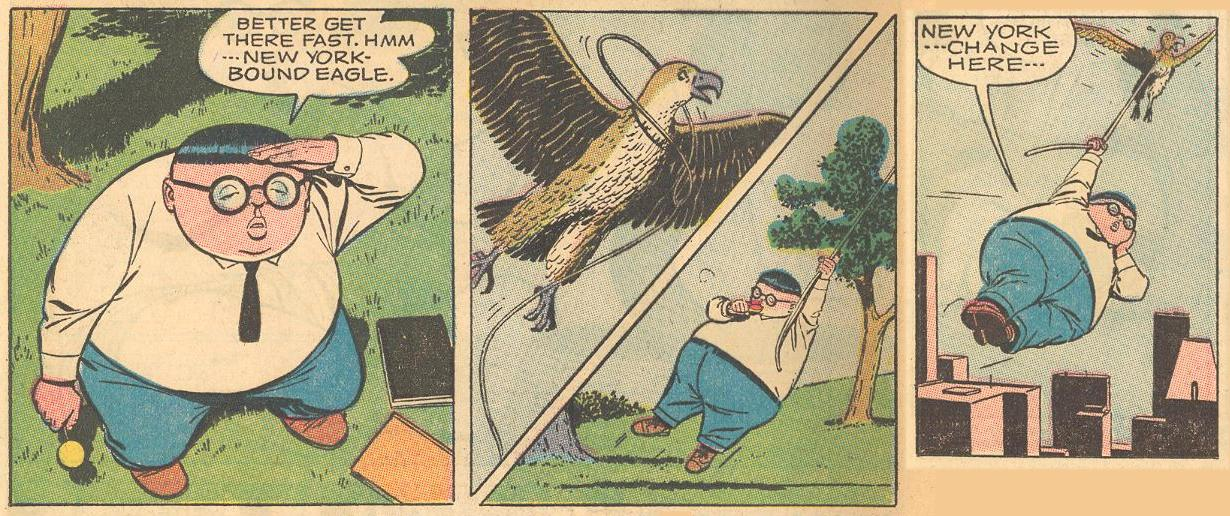 In #5a , Herbie catches a New York-bound eagle...