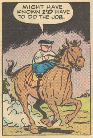 In #8b , Herbie rides a horse to warn about the British.