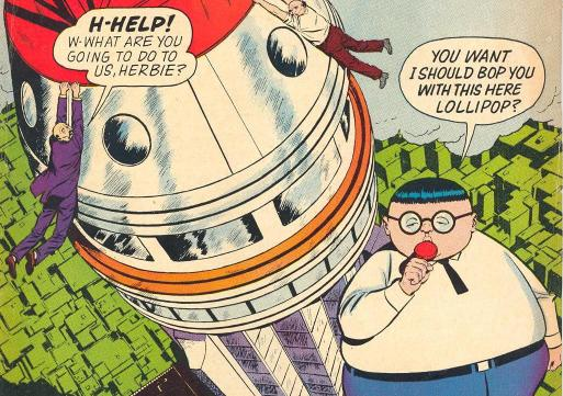On the cover of #3 , Herbie says the entire catchphrase for the first time...