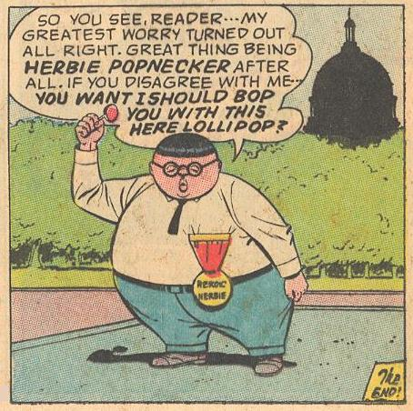 Herbie threatens the reader at the end of the story.