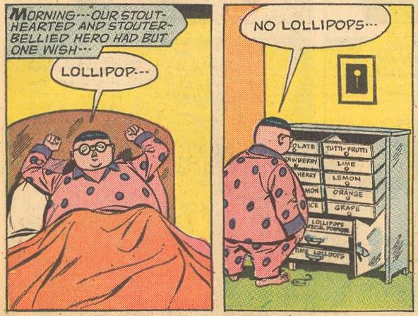 "In ""the case of the purloined pops"", Herbie awakens to find that he is out of lollipops."