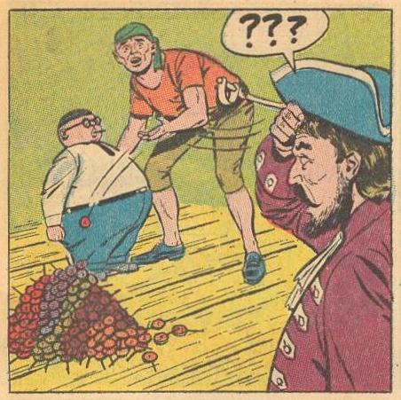 Pirates empty Herbie's pockets.