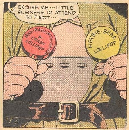 Herbie makes his last use of his lollipop belt.