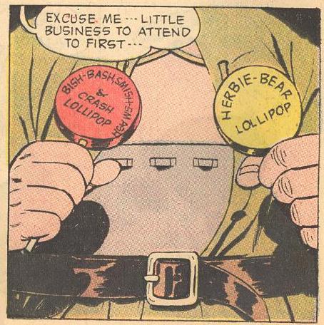 Herbie makes his last use of his lollipop belt.