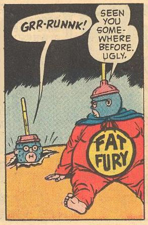 No one could tell the difference between the evil robot and the real Fat Fury, and people thought that the Fat Fury had turned to crime.