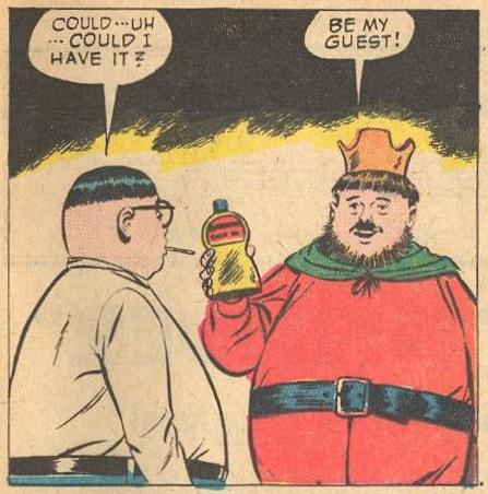 In Forbidden Worlds #110 , we meet someone who looks a bit like Herbie, and that king looks a bit like him, too.
