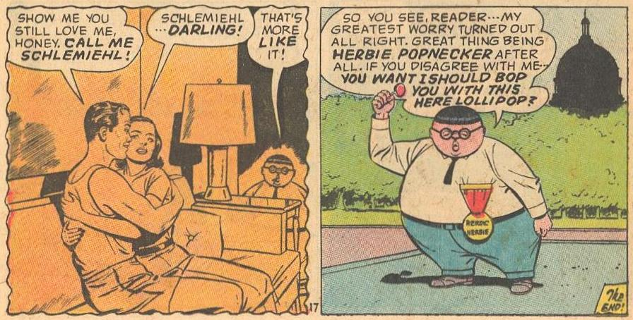 Herbie's worst fear about love is that his parents break up, which fortunately doesn't happen.