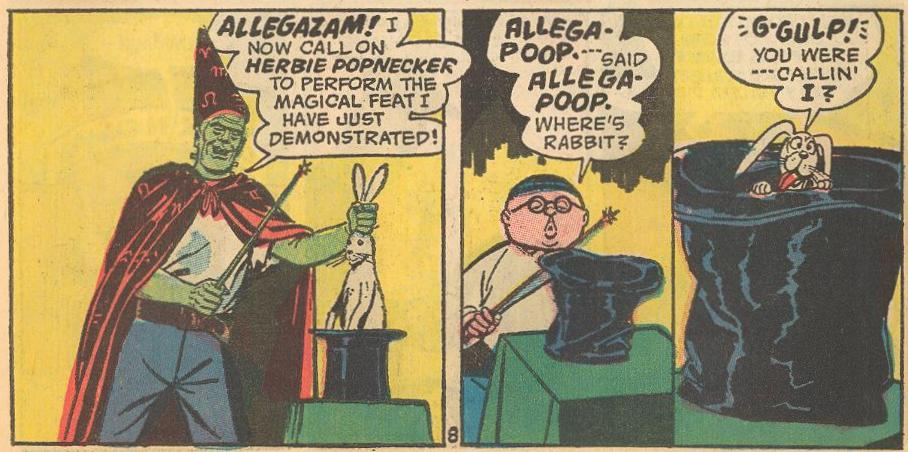 In #22a , Herbie needs magic to replace his lollipop powers.