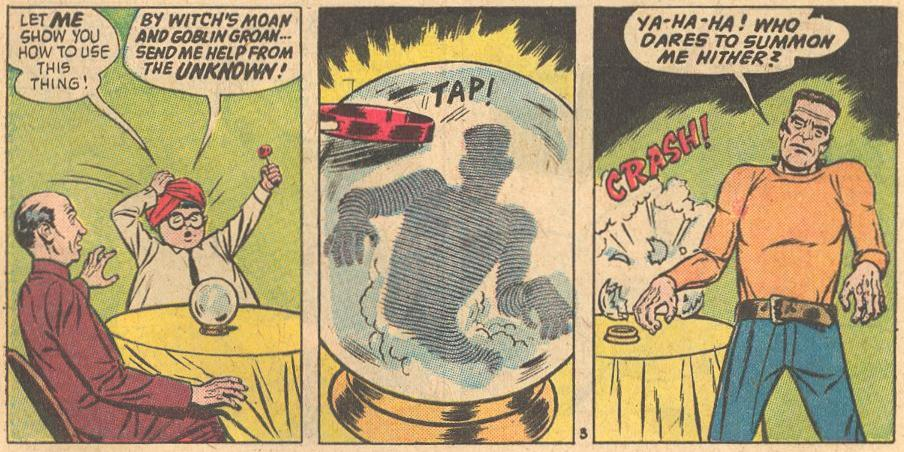 In Forbidden Worlds #110 , not sure if this is magic or invoking the Unknown .