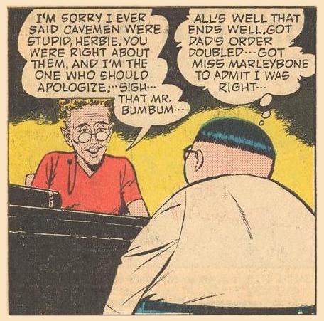 Miss Marleybone, Herbie's teacher, who has fallen for BumBum.