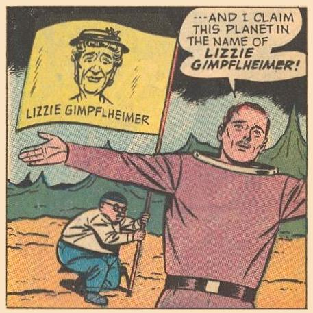 Dad claims the planet for Lizzie Gimpflheimer.