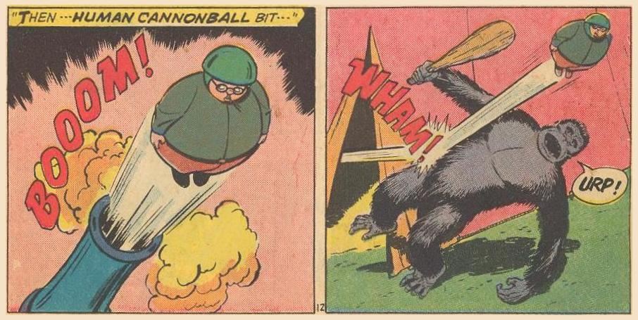 Another Projectile : this time a human cannonball.
