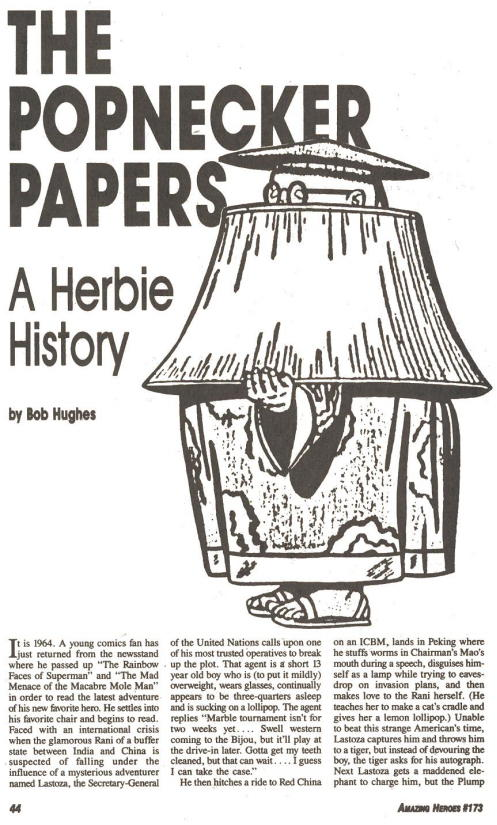 """ The Popnecker Papers: A Herbie Story ,"" by Bob Hughes."