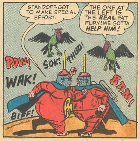 Fat Fury fights his double.