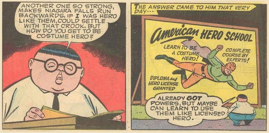 Herbie enrolls in costume hero school to become a licensed hero.